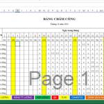 File Excel tính lương, chấm công, hợp đồng lao động