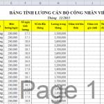 Hướng dẫn tải File tính bảng lương bằng Excel – bí kíp excel