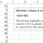 Tham chiếu tương đối và tuyệt đối trong định dạng có điều kiện của Excel