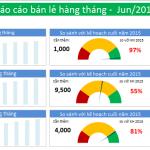 Excel Dashboard – Quản lý kế hoạch kinh doanh