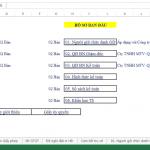 Mẫu Excel đăng ký thuế ban đầu, đặt in hóa đơn