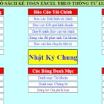 File excel mẫu sổ sách kế toán theo thông tư 133
