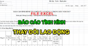 File excel Mẫu 07 báo cáo tình hình thay đổi lao động