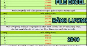 Tải File Excel Thang Bảng Lương 2019