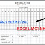 Tải Mẫu Bảng Chấm Công Excel Mới Nhất