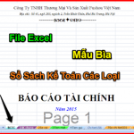 File Excel Mẫu Bìa Sổ Sách Kế Toán Các Loại