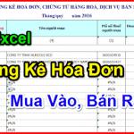 File Excel Bảng Kê Hóa Đơn Mua Vào, Bán Ra Mới Nhất